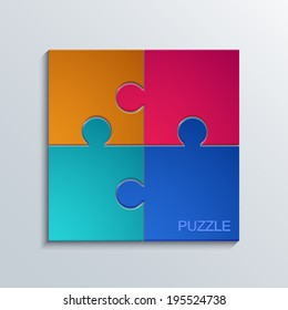 Vector modern puzzle icons background. Eps10 illustration