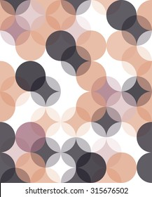Vector modern seamless colorful geometry pattern overlapping circle  , color abstract geometric background,wallpaper print,  retro texture, hipster fashion design
