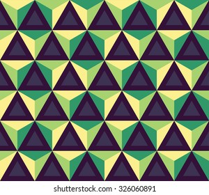 Vector modern seamless colorful geometry pattern, polygon, color blue green, abstract geometric background, trendy multicolored print, retro texture, hipster fashion design