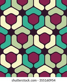 Vector modern seamless colorful geometry hexagon pattern, color abstract geometric background, pillow multicolored print, retro texture, hipster fashion design