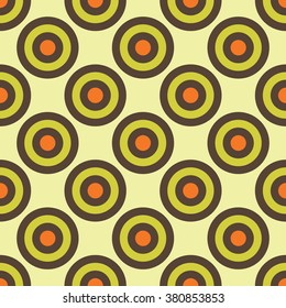 Vector modern seamless colorful geometry circles pattern, color abstract geometric background, pillow multicolored print, retro texture, hipster fashion design