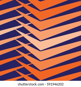 Vector modern seamless colorful geometry pattern, color blue orange abstract geometric background, trendy multicolored print, retro texture, hipster fashion design
