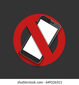 Vector modern sign - turn off the phone