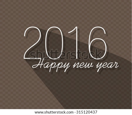 vector modern simple happy new year card