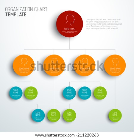 vector modern and simple organization chart template with profiles