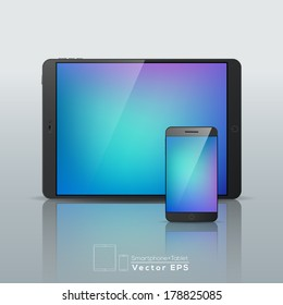 Vector modern Smartphone Tablet isolated illustration