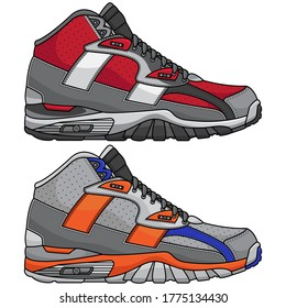 vector modern sports shoes, vector EPS 10