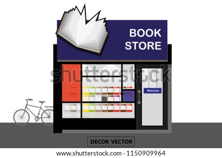 vector modern style book store interior stock vector royalty free rh shutterstock com