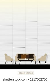 vector modern style living room interior decor