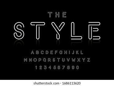 Vector of modern stylish abstract font and alphabet set.