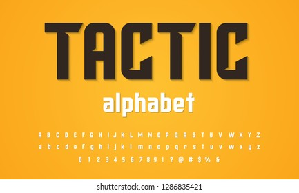 Vector of modern stylized alphabet design
