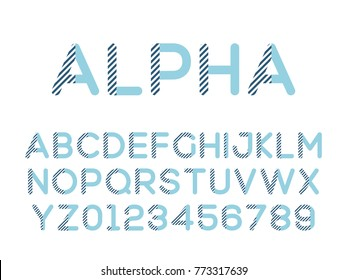 Vector of modern stylized font. Stock illustration alphabet