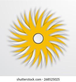 Vector modern sun icon background on white background