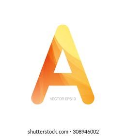 Vector modern textured monogram letter A