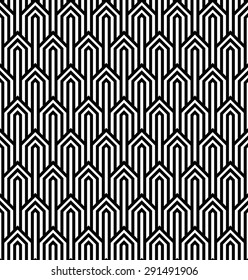 Vector modern tiles pattern. Abstract op art seamless monochrome background or wallpaper