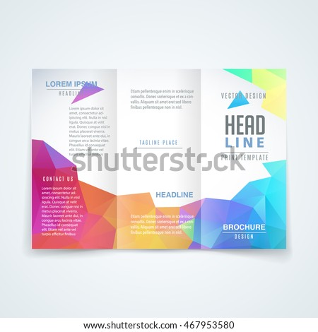 vector modern trifold brochure design template stock vector royalty