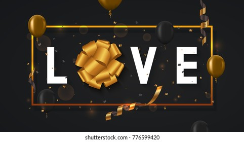 Vector modern valentines day or love poster background