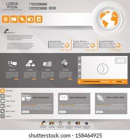 vector modern website - abstract business web design template
