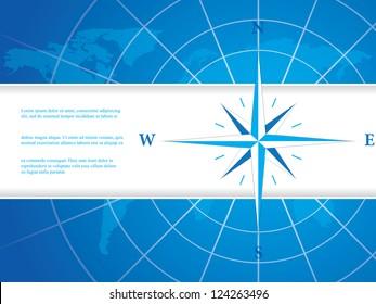 Vector modern wind rose compass