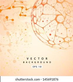 Vector molecular Structure background