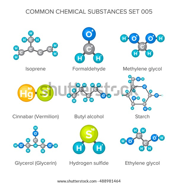 Vector Molecular Structures Chemical Substances Isolated