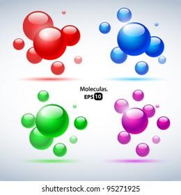 Vector moleculas set