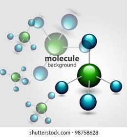 Vector molecule background