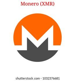 Vector Monero (XMR) digital cryptocurrency logo. Monero (XMR) icon. Vector illustration isolated on white background.
