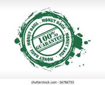 Vector money back rubber stamp