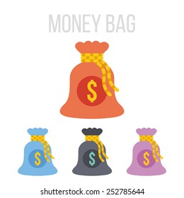 Vector money bag icons.