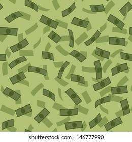 Vector money rain pattern