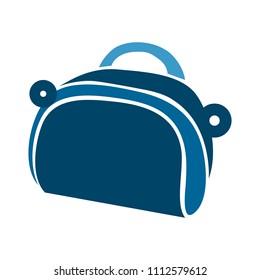 vector money wallet illustration isolated - flat purse bag. money icon