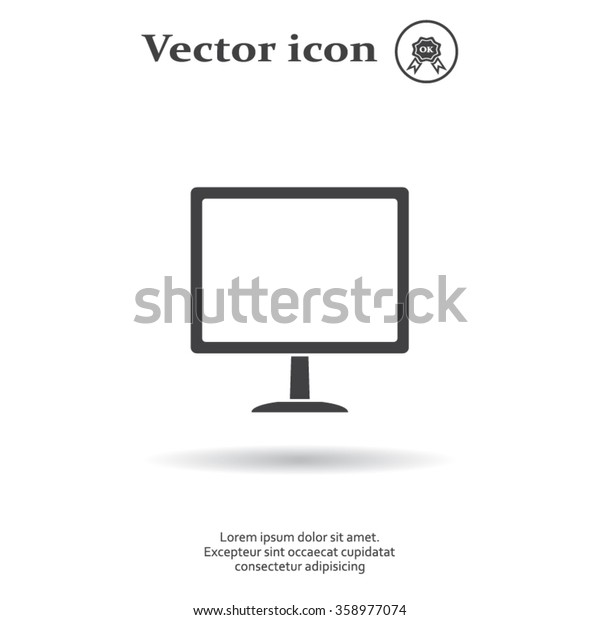 Vector monitor icon