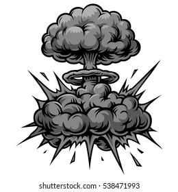 Vector monochrome comics icon