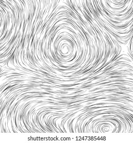 Vector monochrome field visualization of forces. Magnetic or gravitational fluctuations chart. Science backdrop with a matrix of arows with magnitude and direction. Flow representation. Interaction
