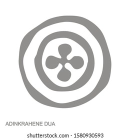 vector monochrome icon with Adinkra symbol Adinkrahene Dua