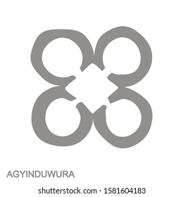 vector monochrome icon with Adinkra symbol Agyinduwura