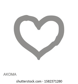 vector monochrome icon with Adinkra symbol Akoma