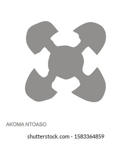 Vector monochrome icon with Adinkra symbol Akona Ntoaso