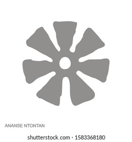 Vector monochrome icon with Adinkra symbol Ananse Ntontan