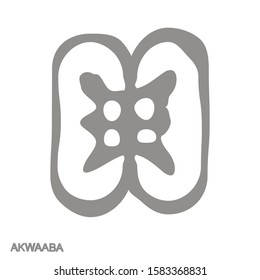 Vector monochrome icon with Adinkra symbol Akwaaba