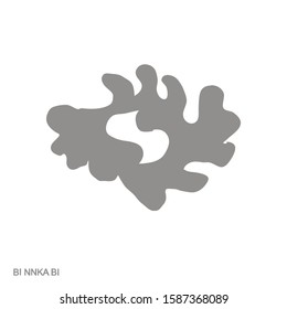 Vector monochrome icon with Adinkra symbol Bi Nka Bi