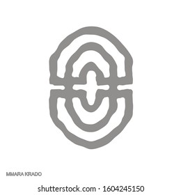 Vector monochrome icon with Adinkra symbol  Mmara Krado