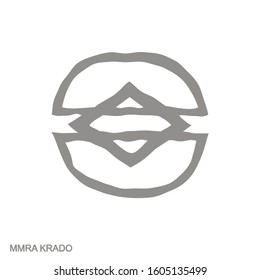 Vector monochrome icon with Adinkra symbol  Mmra Krado
