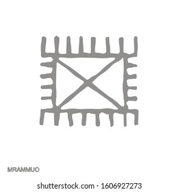Vector monochrome icon with Adinkra symbol Mrammuo