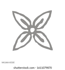 Vector monochrome icon with Adinkra symbol Nkuma Kese