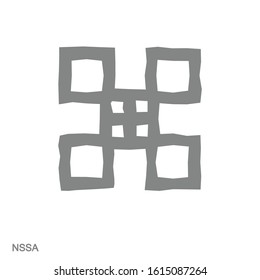 Vector monochrome icon with Adinkra symbol Nssa