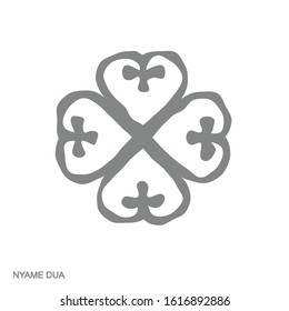 Vector monochrome icon with Adinkra symbol Nyame Dua