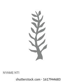 Vector monochrome icon with Adinkra symbol Nyame Nti