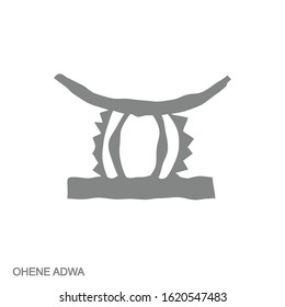 Vector monochrome icon with Adinkra symbol Ohene Adwa